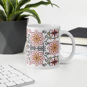 palestinian embroidery tatreez gift mug