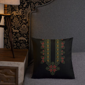 palestinian embroidery decorative pillow