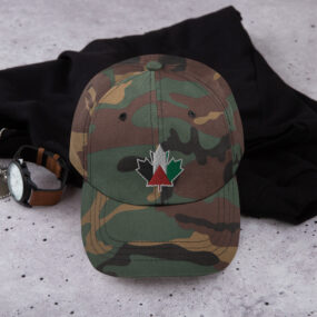 palestine flag canada maple embroidered baseball cap