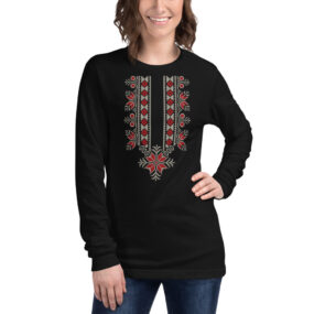 palestinian embroidery long sleeve tee