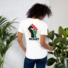Palestine Resistance is Existence Palestinian Solidarity Customized T-Shirt white