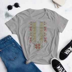 palestinian tatreez art women's t-shirt