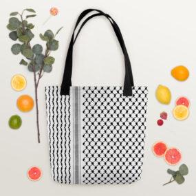 Palestinian Kufiya pattern customized tote bag
