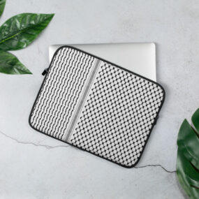 Palestinian Kufiya pattern laptop sleeve