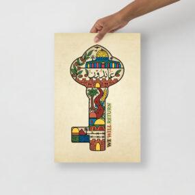 palestinian key of return customized poster