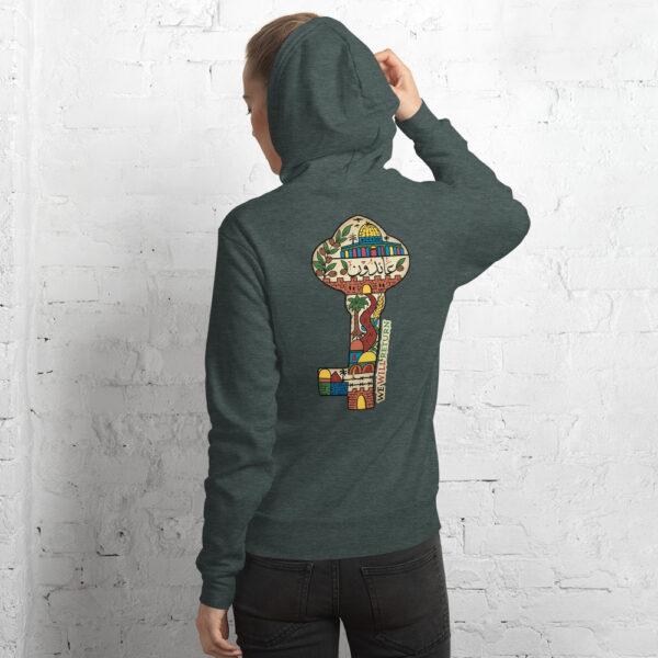 Palestinian key of return customized hoodie