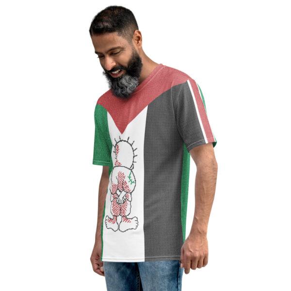 Palestine flag customized men's t-shirt