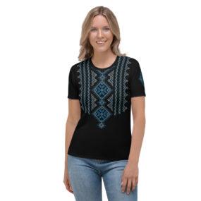 Palestinian embroidery pattern #15 personalized women's t-shirt