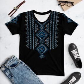 Palestinian embroidery pattern #15 customized women's t-shirt