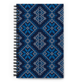 Palestinian Tatreez customized spiral notebook