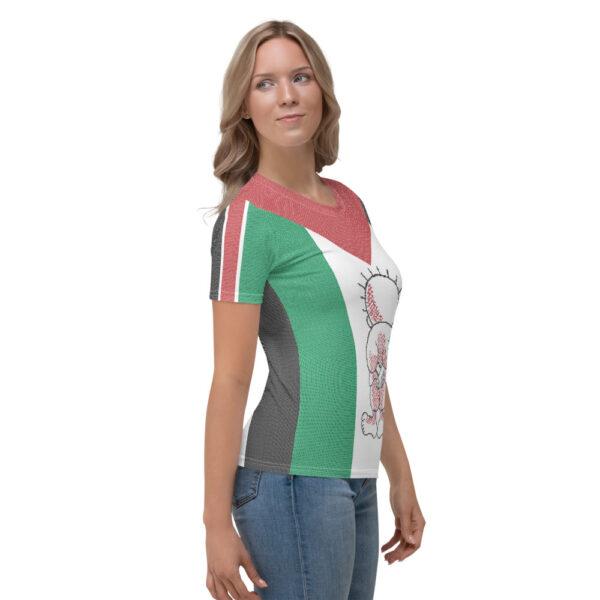 Palestinian flag customized women's t-shirt